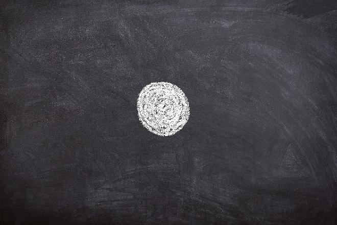 Angst vor dem Tod: Tafel mit weißem Kreis