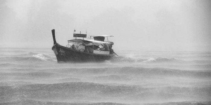 Probleme im Leben sind wie Wellen