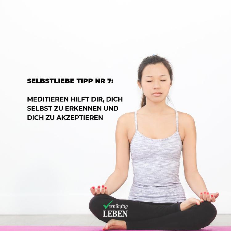 Selbstliebe Sofort-Tipp: Meditieren hilft dir, dich selbst zu erkennen und zu akzeptieren