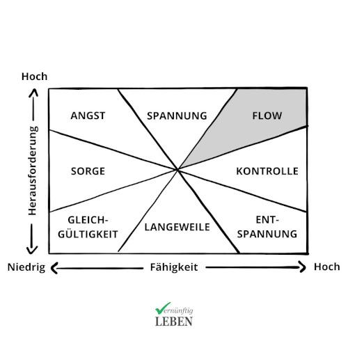 Gewohnheiten ändern: Flow Diagramm