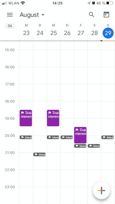 Gewohnheiten ändern: Fortschritt unkompliziert messen mit App - Google Kalender Ziele